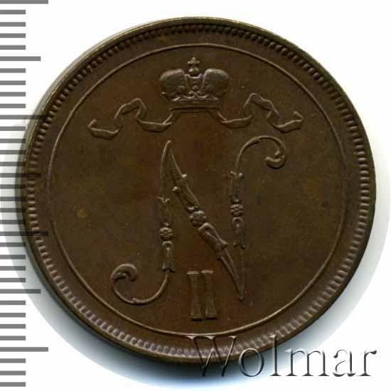 10 пенни 1905 г. Для Финляндии (Николай II)