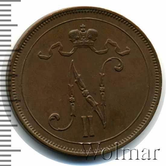 10 пенни 1909 г. Для Финляндии (Николай II)