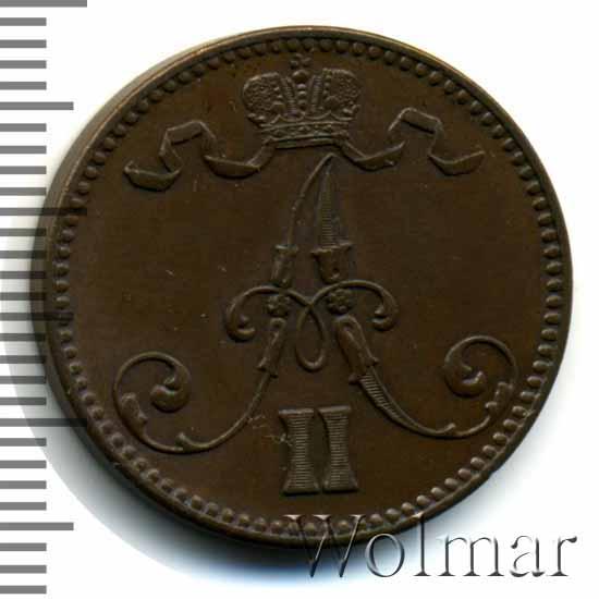 5 пенни 1870 г. Для Финляндии (Александр II).