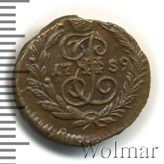 Полушка 1789 г. ЕМ. Екатерина II Буквы ЕМ