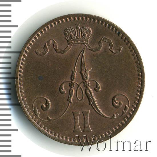 5 пенни 1867 г. Для Финляндии (Александр II).