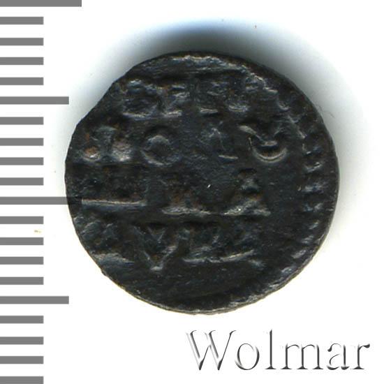 Полушка 1721 г. Петр I. Год славянский. Тиражная монета