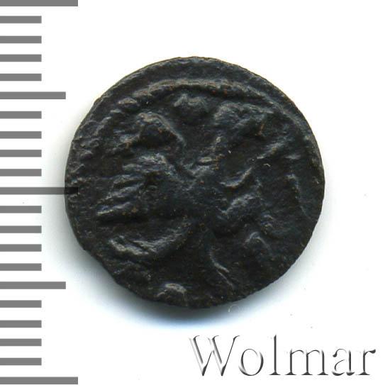 Полушка 1721 г. Петр I Год славянский. Тиражная монета