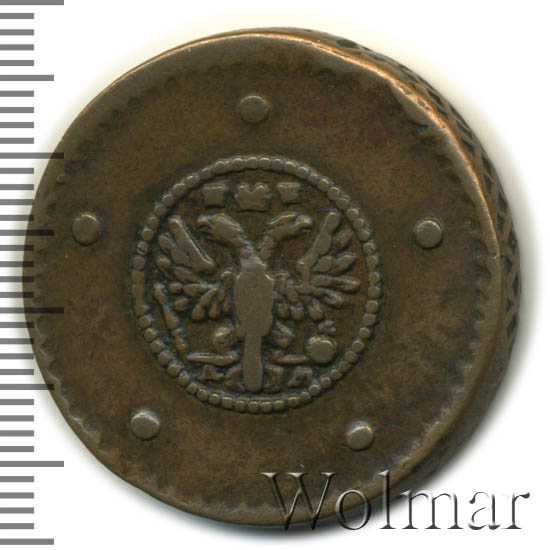 5 копеек 1730 г. ДМ. Анна Иоанновна. Обозначение монетного двора