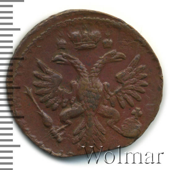 Денга 1737 г. Анна Иоанновна. Красный монетный двор