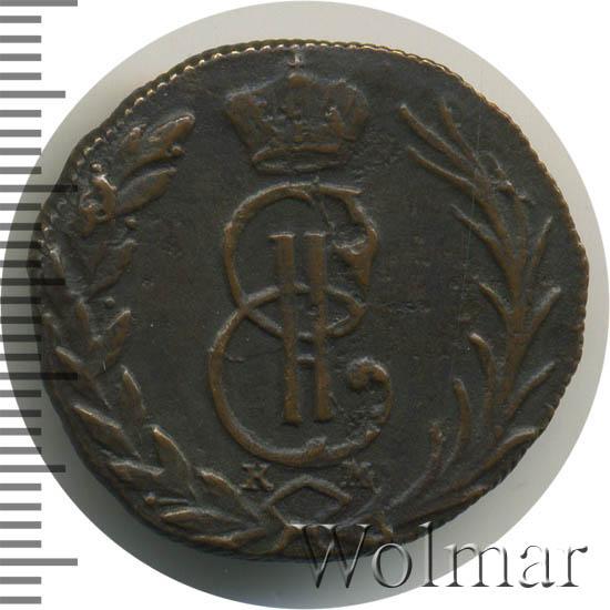 Денга 1768 г. КМ. Сибирская монета (Екатерина II) Тиражная монета