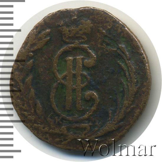 Полушка 1773 г. КМ. Сибирская монета (Екатерина II). Тиражная монета