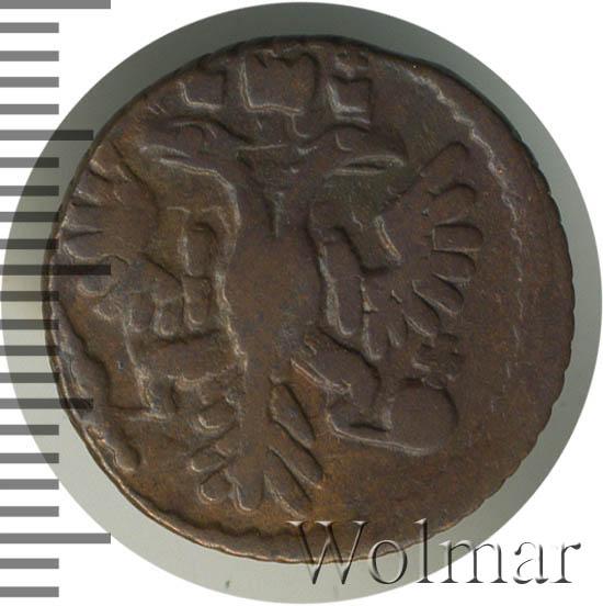 Полушка 1735 г. Анна Иоанновна Тиражная монета