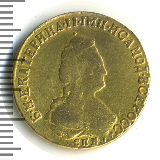 5 рублей 1792 г. СПБ. Екатерина II Тиражная монета