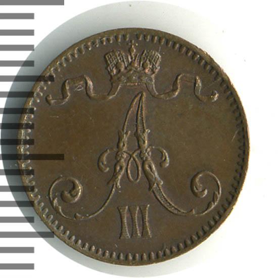 1 пенни 1894 г. Для Финляндии (Александр III).