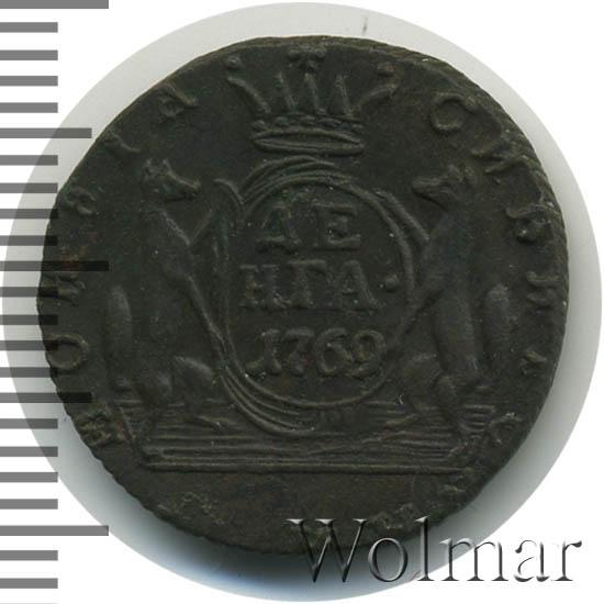 Денга 1769 г. КМ. Сибирская монета (Екатерина II). Тиражная монета