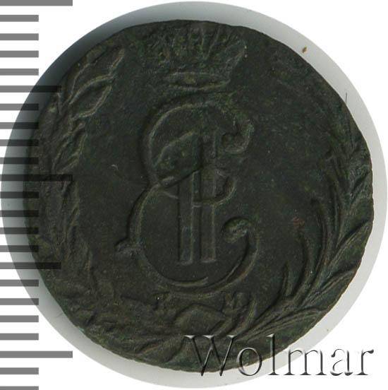 Денга 1769 г. КМ. Сибирская монета (Екатерина II) Тиражная монета