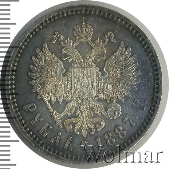 Рубль 1887 александр iii монета казанский кремль 5000 франков