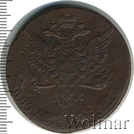 5 копеек 1759 г. Елизавета I Без обозначения монетного двора