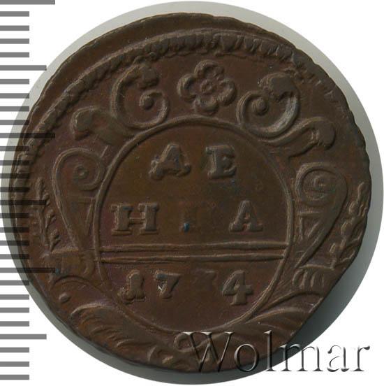 Денга 1734 г. Анна Иоанновна. Красный монетный двор