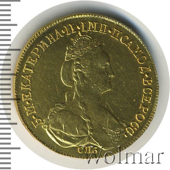 10 рублей 1781 г. СПБ. Екатерина II Тиражная монета