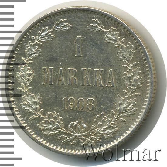 1 марка 1908 г. L. Для Финляндии (Николай II).