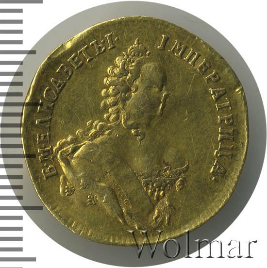 1 червонец 1748 г. Елизавета I