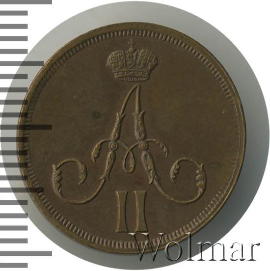 Денежка 1861 г. ВМ. Александр II. Варшавский монетный двор