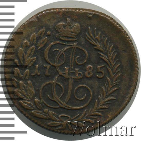 Полушка 1785 г. КМ. Екатерина II Буквы КМ
