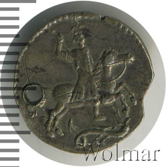 Алтын 1718 г. Петр I Ник. Всадник без плаща. Тиражная монета