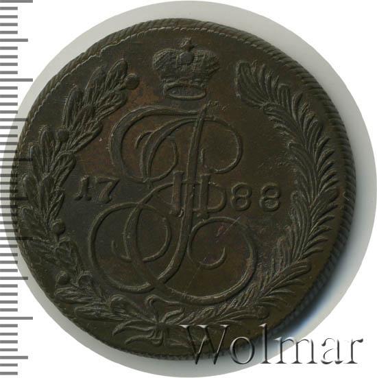 5 копеек 1788 г. КМ. Екатерина II. Сузунский монетный двор. Буквы КМ меньше