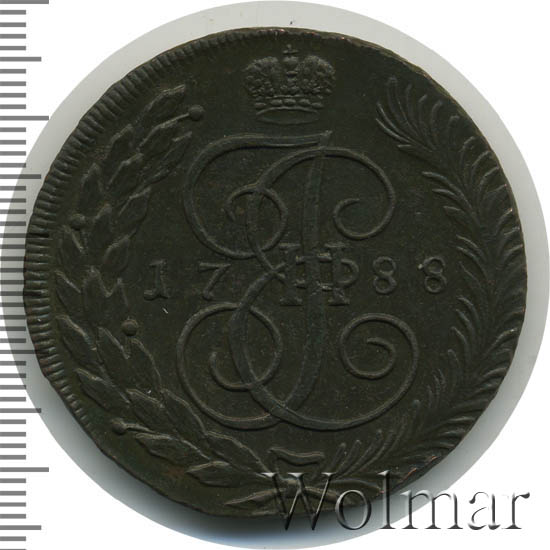 5 копеек 1788 г. ТМ. Екатерина II. Таврический монетный двор