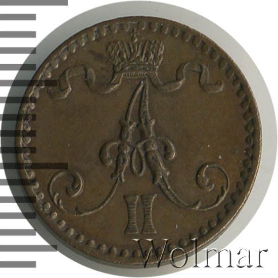 1 пенни 1867 г. Для Финляндии (Александр II).