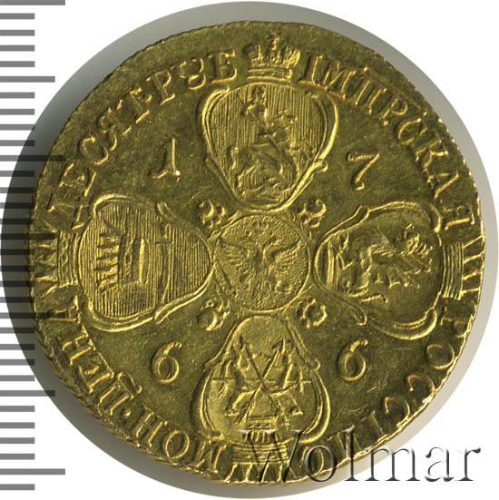 10 рублей 1766 г. СПБ. Екатерина II. Портрет шире,