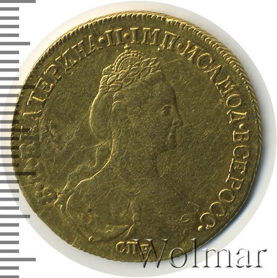 10 рублей 1782 г. СПБ. Екатерина II Тиражная монета