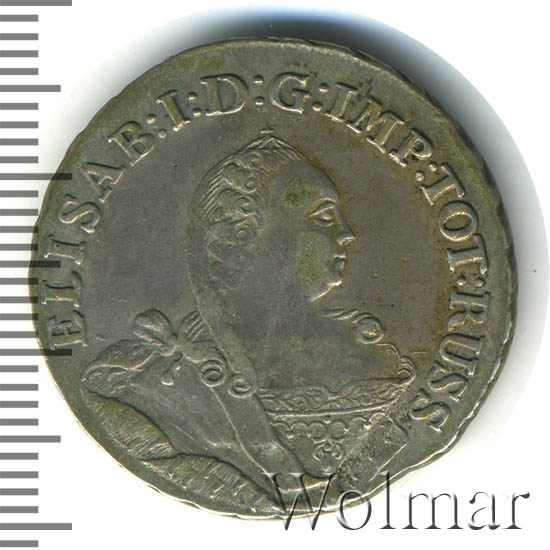1/3 талера 1761 г. Для Пруссии (Елизавета I)