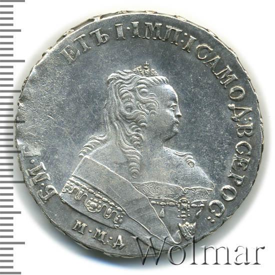 1 рубль 1749 г. ММД. Елизавета I Красный монетный двор