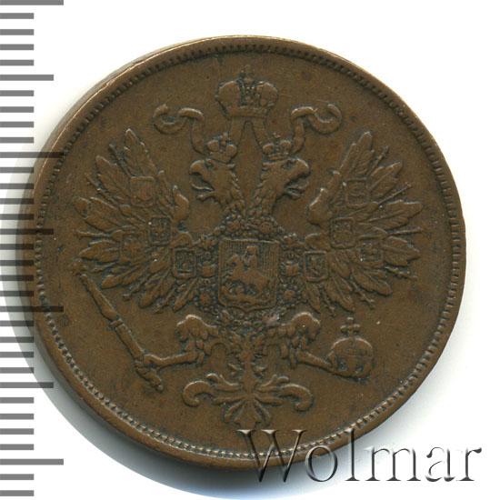 2 копейки 1863 г. ВМ. Александр II Варшавский монетный двор