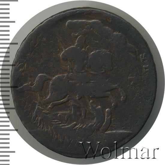4 копейки 1762 г. Петр III Перечекан 5 копеек образца 1757-1762