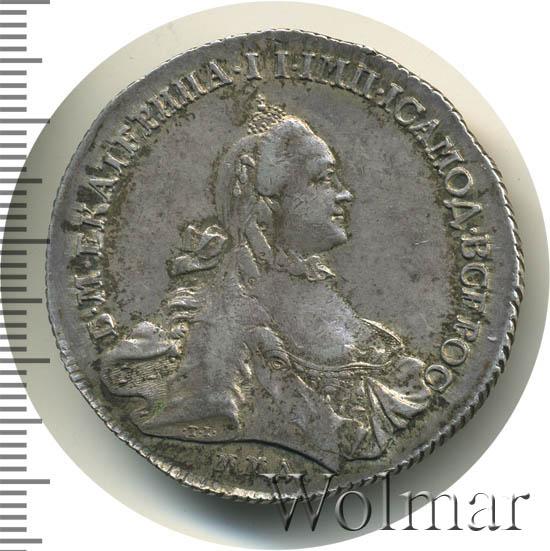 1 рубль 1762 г. ММД ДМ. Екатерина II. Инициалы минцмейстера ДМ