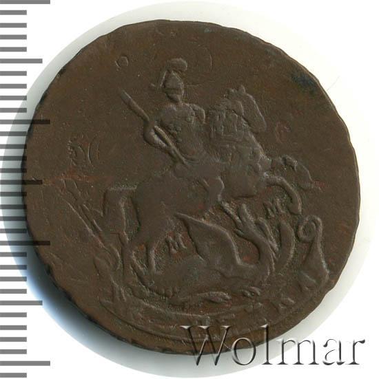 1 копейка 1763 г. ММ. Екатерина II Буквы ММ