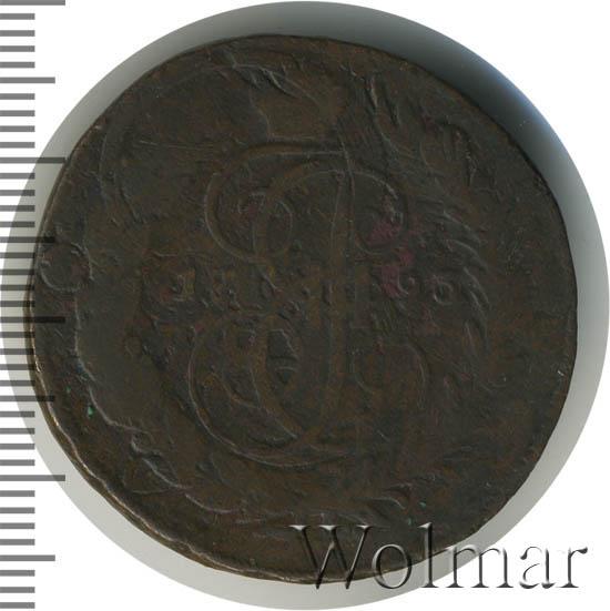 2 копейки 1793 г. ЕМ. Павловский перечекан (Павел I). Буквы ЕМ под конем. Сетчатый гурт