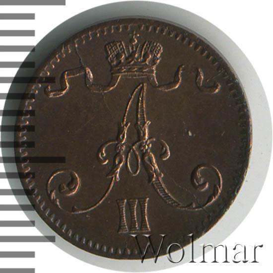 1 пенни 1884 г. Для Финляндии (Александр III)