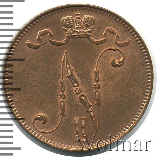5 пенни 1912 г. Для Финляндии (Николай II).