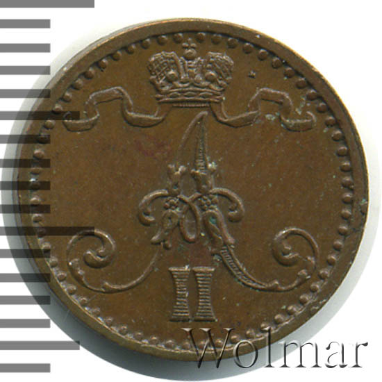 1 пенни 1871 г. Для Финляндии (Александр II)