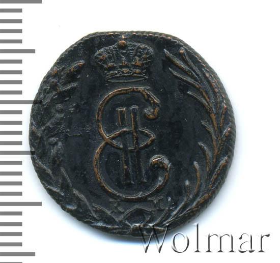 Денга 1770 г. КМ. Сибирская монета (Екатерина II) Тиражная монета