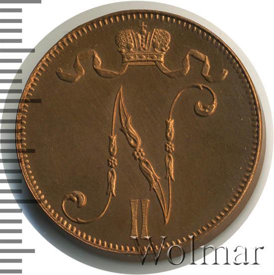 5 пенни 1916 г. Для Финляндии (Николай II).