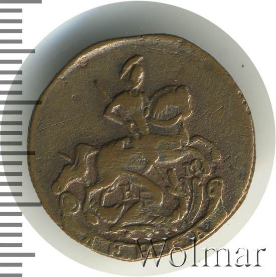 Денга 1788 г. КМ. Екатерина II Буквы КМ