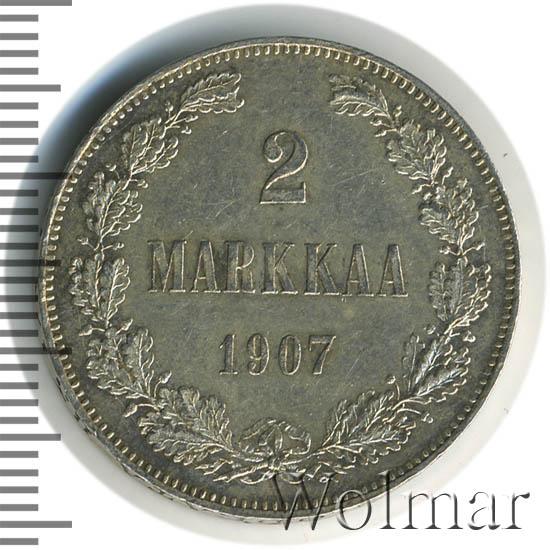 2 марки 1907 г. L. Для Финляндии (Николай II).