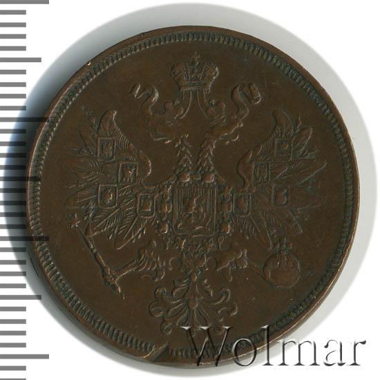 2 копейки 1859 г. ЕМ. Александр II Орел 1860 - 1867. Екатеринбургский монетный двор