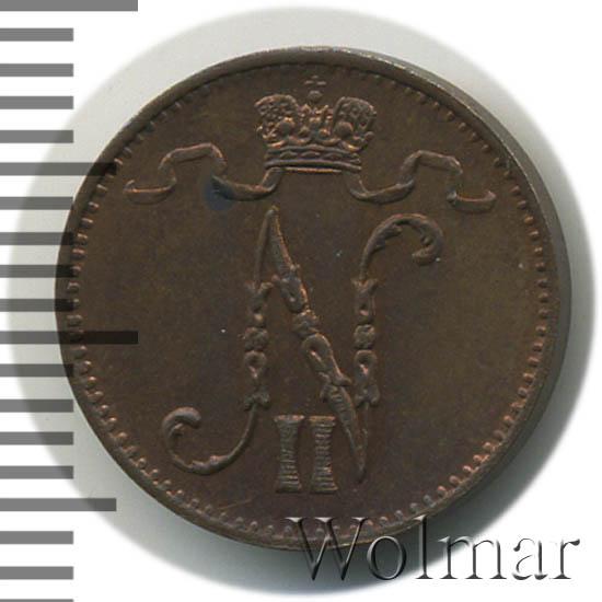 1 пенни 1908 г. Для Финляндии (Николай II)