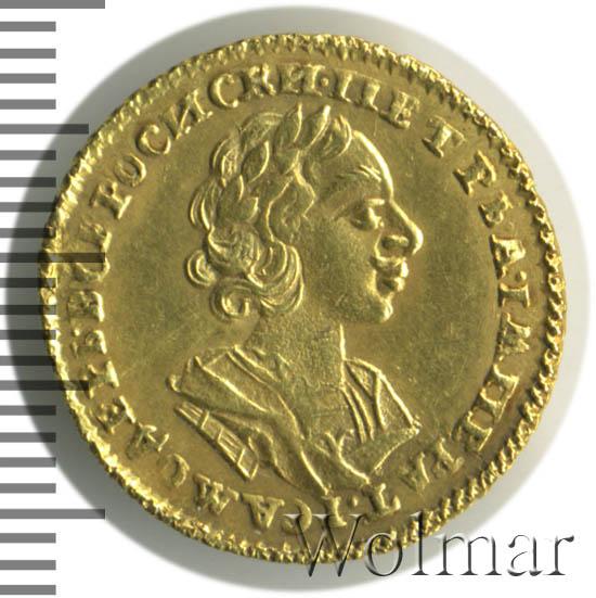 2 рубля 1724 г. Петр I Портрет в античных доспехах
