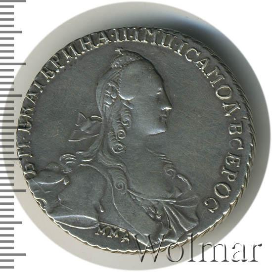 1 рубль 1768 г. ММД АШ. Екатерина II. Красный монетный двор. Инициалы минцмейстера АШ