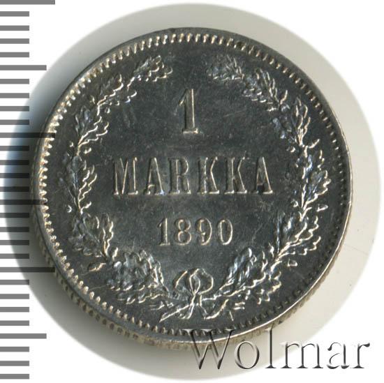 1 марка 1890 г. L. Для Финляндии (Александр III).