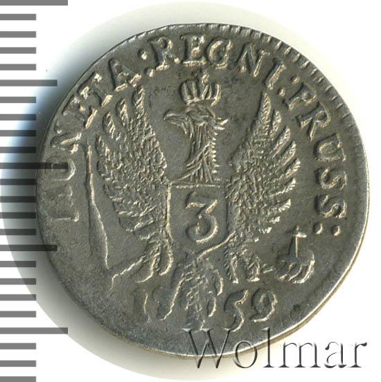 3 гроша 1759 г. Для Пруссии (Елизавета I).